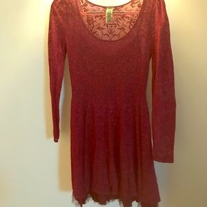 raspberry free people dress